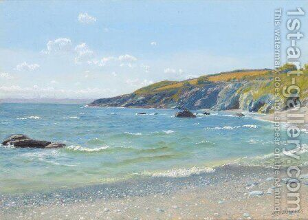 Perran Point  Cornwall by Arthur Hughes - Reproduction Oil Painting