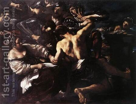 Samson Captured By The Philistines 1619 by Giovanni Francesco Guercino (BARBIERI) - Reproduction Oil Painting