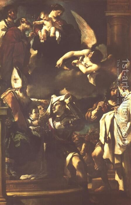 St William Of Aquitaine Receiving The Cowl 1620 by Giovanni Francesco Guercino (BARBIERI) - Reproduction Oil Painting