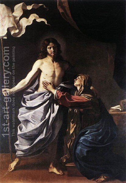 The Resurrected Christ Appears To The Virgin 1629 by Giovanni Francesco Guercino (BARBIERI) - Reproduction Oil Painting