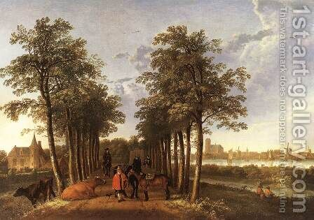 The Avenue at Meerdervoort 1650-52 by Aelbert Cuyp - Reproduction Oil Painting