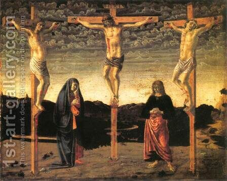 Crucifixion2 1450 by Andrea Del Castagno - Reproduction Oil Painting