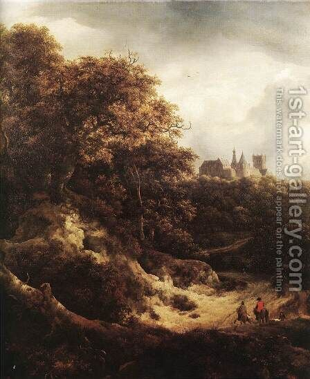 The Castle at Bentheim 1651 by Jacob Van Ruisdael - Reproduction Oil Painting