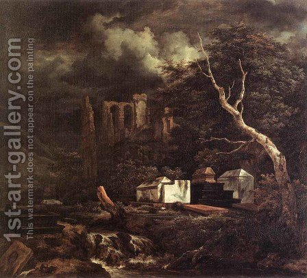 The Jewish Cemetery 1655-60 by Jacob Van Ruisdael - Reproduction Oil Painting