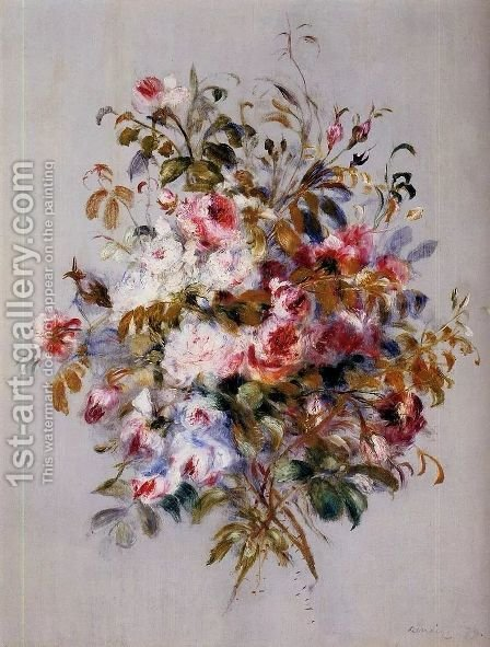 A Bouquet Of Roses by Pierre Auguste Renoir - Reproduction Oil Painting