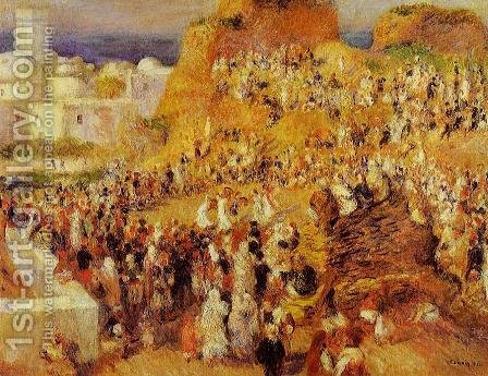 Arab Festival In Algiers Aka The Casbah by Pierre Auguste Renoir - Reproduction Oil Painting