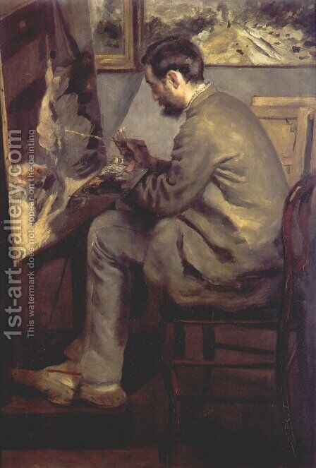 Frederic Bazille Painting The Heron by Pierre Auguste Renoir - Reproduction Oil Painting