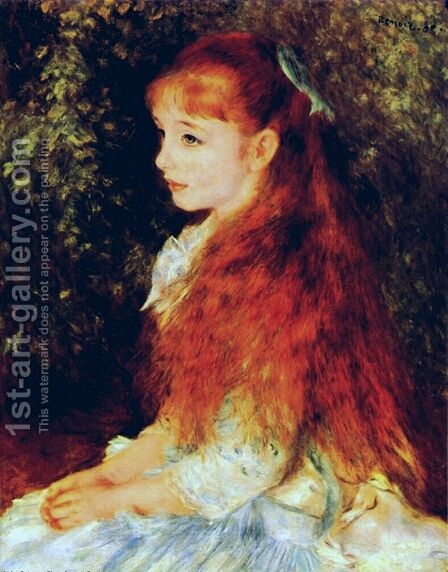 Irene Cahen D Anvers Aka Little Irene by Pierre Auguste Renoir - Reproduction Oil Painting