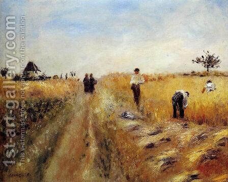 The Harvesters by Pierre Auguste Renoir - Reproduction Oil Painting