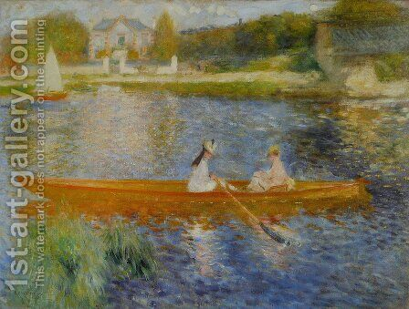 The Seine At Asnieres Aka The Skiff by Pierre Auguste Renoir - Reproduction Oil Painting