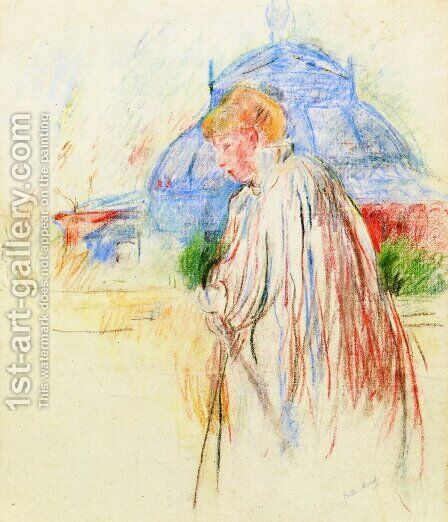 At The Exposition Palace by Berthe Morisot - Reproduction Oil Painting