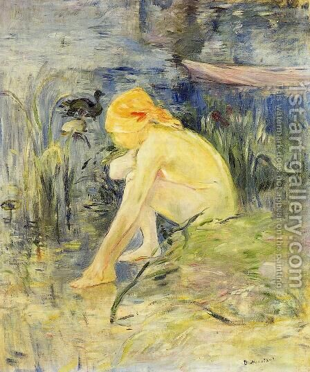 Bather by Berthe Morisot - Reproduction Oil Painting
