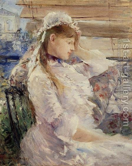 Behind The Blinds by Berthe Morisot - Reproduction Oil Painting
