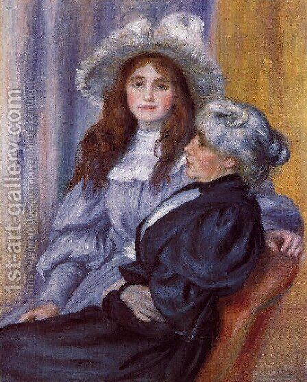 Berthe Morisot And Her Daughter Julie Manet by Berthe Morisot - Reproduction Oil Painting