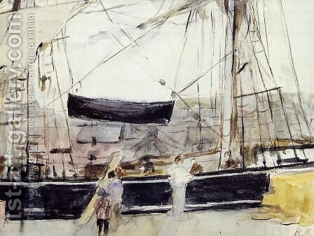 Boat At Dock by Berthe Morisot - Reproduction Oil Painting