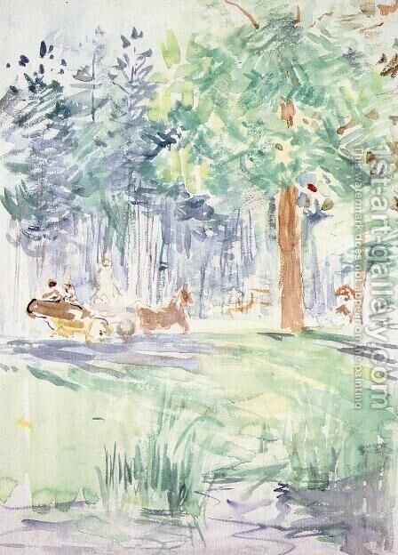Carriage In The Bois De Boulogne by Berthe Morisot - Reproduction Oil Painting