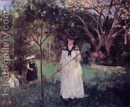 Chasing Butterflies 1874 by Berthe Morisot - Reproduction Oil Painting