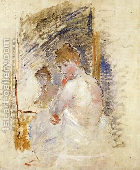 Getting Out Of Bed by Berthe Morisot - Reproduction Oil Painting