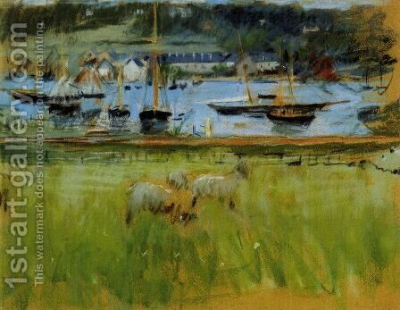 Harbor In The Port Of Fecamp by Berthe Morisot - Reproduction Oil Painting