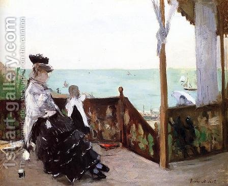 In a Villa at the Seaside 1874 by Berthe Morisot - Reproduction Oil Painting