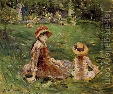 In The Garden At Maurecourt 1884 by Berthe Morisot - Reproduction Oil Painting