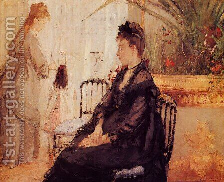 Interior by Berthe Morisot - Reproduction Oil Painting