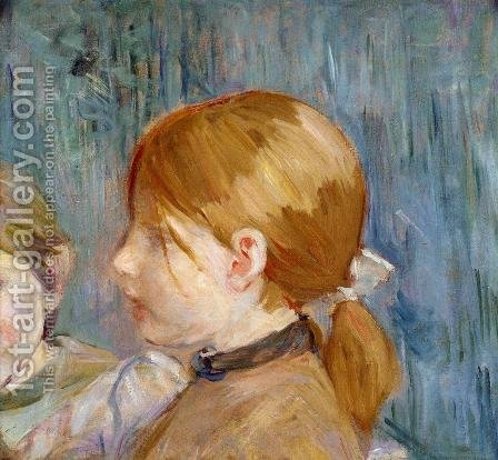 Jeannies Head Aka Tete De Jeannie by Berthe Morisot - Reproduction Oil Painting
