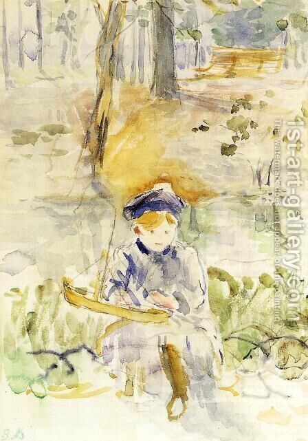 Julie And Her Boat by Berthe Morisot - Reproduction Oil Painting