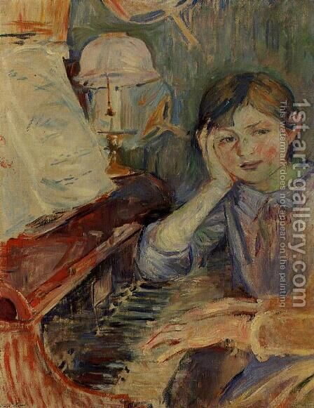 Julie Listening by Berthe Morisot - Reproduction Oil Painting