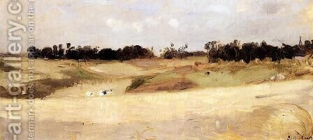 Landscape Near Valenciennes by Berthe Morisot - Reproduction Oil Painting