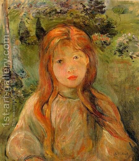 Little Girl At Mesnil (Jeanne Bodeau) by Berthe Morisot - Reproduction Oil Painting