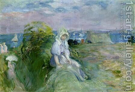 On The Cliff At Portrieux by Berthe Morisot - Reproduction Oil Painting