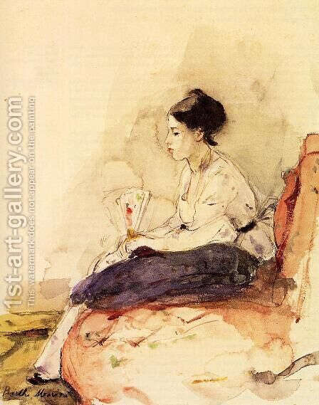 On The Sofa by Berthe Morisot - Reproduction Oil Painting