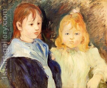 Portrait Of Children by Berthe Morisot - Reproduction Oil Painting