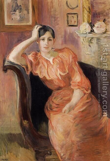 Portrait Of Jeanne Pontillon by Berthe Morisot - Reproduction Oil Painting