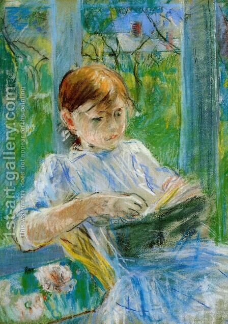 Portrait Of The Artists Daughter  Julie Manet  At Gorey by Berthe Morisot - Reproduction Oil Painting