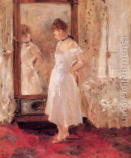 Psyche 1876 by Berthe Morisot - Reproduction Oil Painting