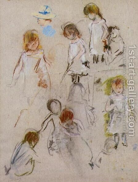 Studies Of A Little Girl by Berthe Morisot - Reproduction Oil Painting