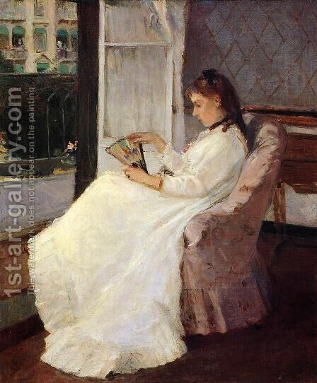 The Artist's Sister at a Window 1869 by Berthe Morisot - Reproduction Oil Painting