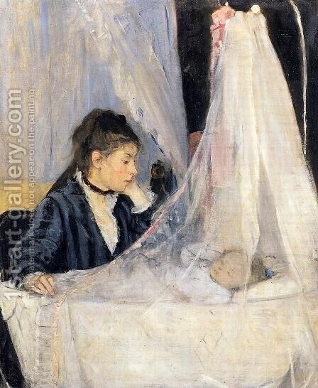 The Cradle 1872 by Berthe Morisot - Reproduction Oil Painting