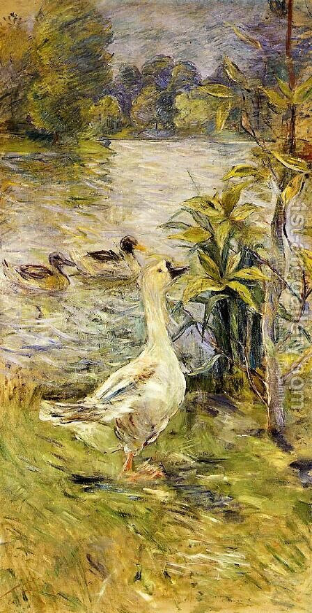 The Goose by Berthe Morisot - Reproduction Oil Painting