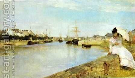 The Harbor at Lorient 1869 by Berthe Morisot - Reproduction Oil Painting
