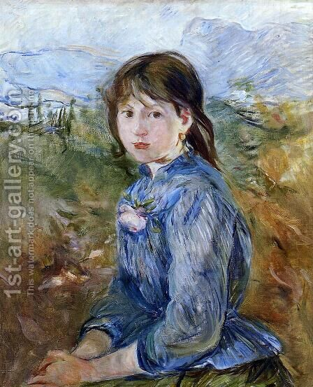 The Little Girl From Nice 1888-89 by Berthe Morisot - Reproduction Oil Painting