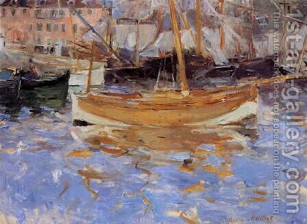 The Port Of Nice by Berthe Morisot - Reproduction Oil Painting