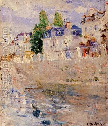 The Quay at Bougival 1883 by Berthe Morisot - Reproduction Oil Painting