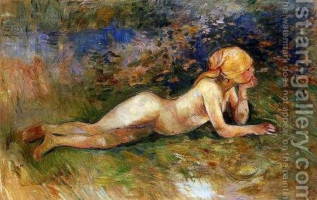 The Reclining Shepherdess by Berthe Morisot - Reproduction Oil Painting