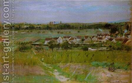 The Village at Maurecourt 1873 by Berthe Morisot - Reproduction Oil Painting