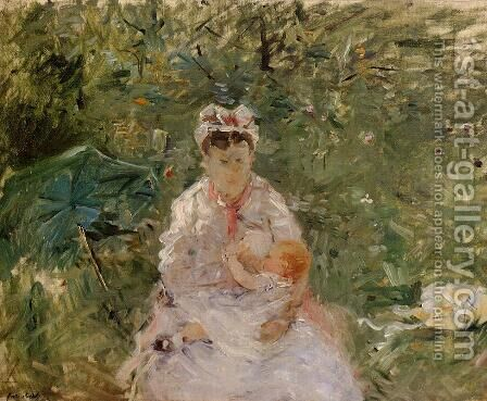 The Wet Nurse Angele Feeding Julie Manet by Berthe Morisot - Reproduction Oil Painting