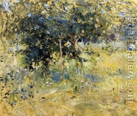Willows In The Garden At Bougival by Berthe Morisot - Reproduction Oil Painting