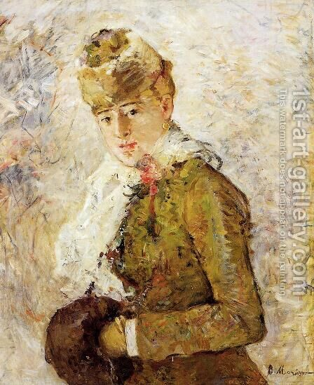 Winter (Woman with a Muff) 1880 by Berthe Morisot - Reproduction Oil Painting